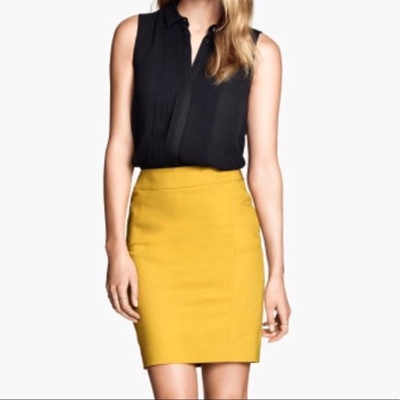425eea8d5b H&M Dresses & Skirts - H&M Mustard Yellow Pencil Skirt
